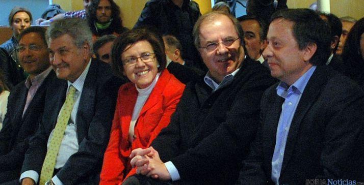 Herrera, con Angulo, Sainz, Posada y Martínez./SN