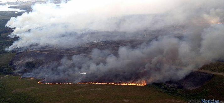 Fuego forestal en una imagen archivo.
