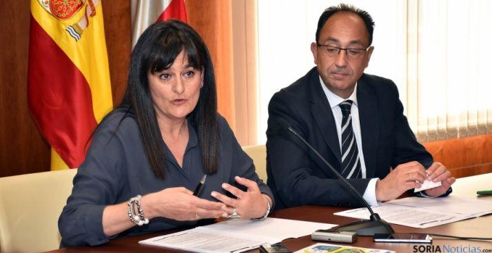 Elena del Vado y Manuel López este viernes. / Jta.