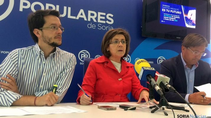 Cabezón, Angulo y Martínez este jueves.