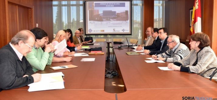 Consejo de Salud de Área de soria este jueves en la Delegación Territorial.  / Jta.