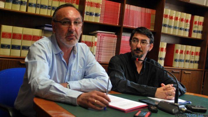 Martínez (izda.) y Romero, este lunes en rueda de prensa./SN