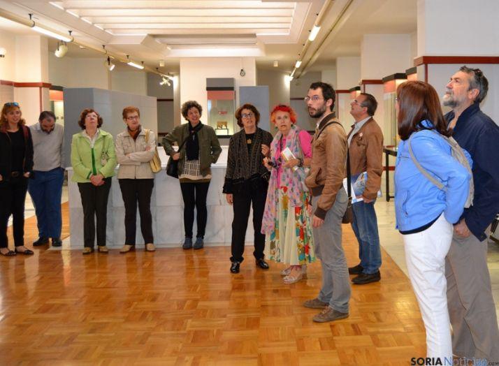 El recorrido comenzó en el propio Museo Numantino. /P.V.