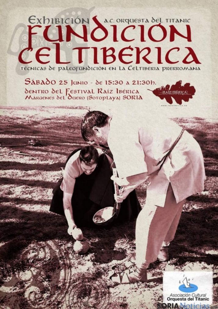 Foto 1 - Recreación de la paleofundición de la Celtiberia