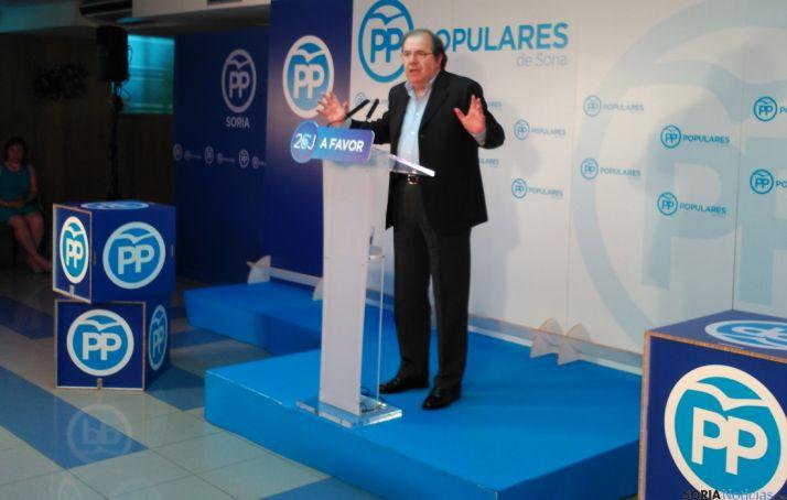 Juan Vicente Herrera, durante su intervención