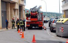 Los bomberos en la intervención./SN