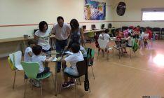 Niños en el 'Crecemos' de verano en El Burgo.