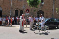 Una imagen de la bendición en el día de San Cristóbal en Soria. / SN