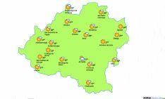 El mapa para este miércoles./eltiempol.es