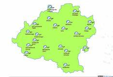 Mapa para la tarde de este jueves./eltiempo.es