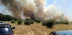 Imagen del incendio en las proximidades de Toranzo./SN
