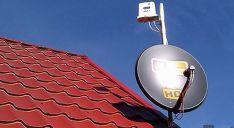 Antena para internet vía satélite./SN