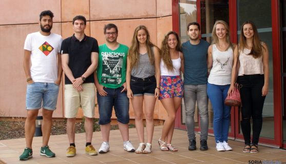 Un grupo de estudiantes en el Céder.