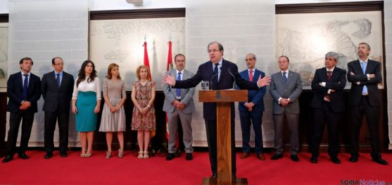 El presidente Herrera explica el acuerdo. / Jta.