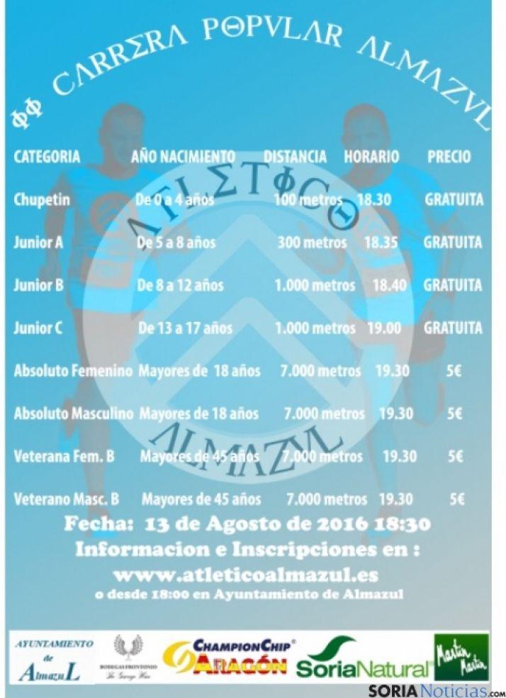 Cartel de la II Carrera Popular de Almazul.