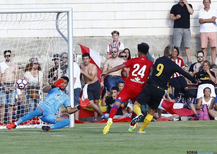 Imagen del primer gol del Atlético de Madrid.