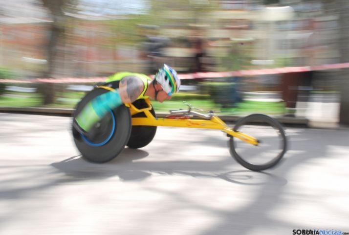 Un deportista con discapacidad en una prueba celebrada en Soria. / SN