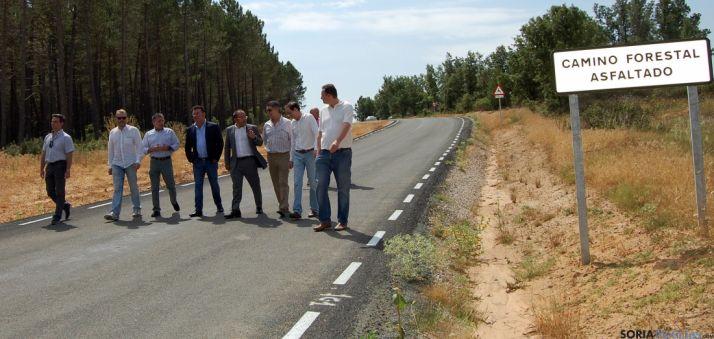 La vía asfaltada este viernes. / Dip.
