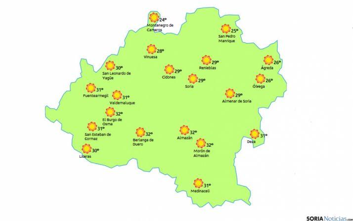 Mapa para este lunes./eltiempo.es