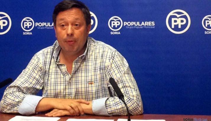Adolfo Sainz, este martes en rueda informativa.
