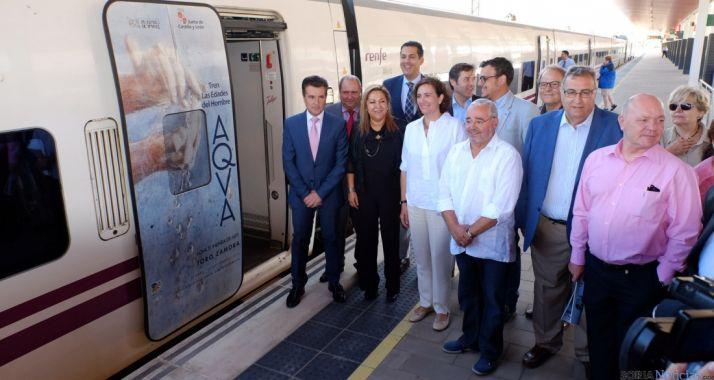 La presentación del tren de las 'Edades' este miércoles./Jta.