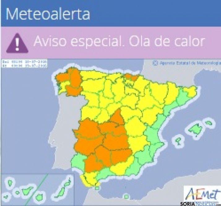 Foto 1 - La alerta por calor llega a la provincia de Soria