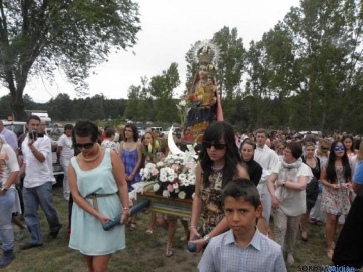Procesión de la Virgen de la Blanca. /Archivo