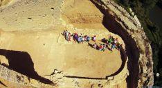 Los pequeños en las ruinas de San Ginés./Ayto