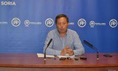 Adolfo Sainz, portavoz del PP en el Ayuntamiento de Soria.