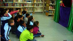Niños en un acto de la biblioteca./SN
