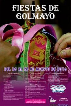Cartel de fiestas en Golmayo, Soria.