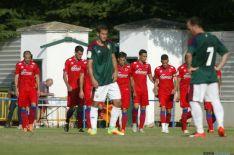 Imagen de la tarde de fútbol en Almazán CD Numancia, rojillos