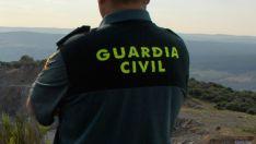 Guardia civil, en la provincia de Soria.