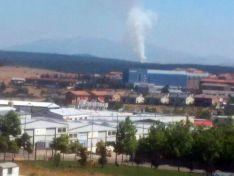 La columna de humo se veía en la capital./SN