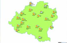 El mapa previsto para este jueves./eltiempo.es