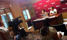 Inés Andrés y Juanma Arroyo en la presentación de Noches Callejeras.