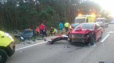 Accidente de tráfico a la altura de San Leonardo.