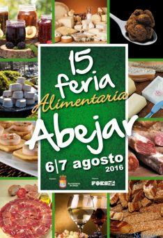 Cartel de la 15 edición de la feria de Alimentaria, en Abejar (Soria).