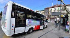 Imagen de uno de los autobuses urbanos.