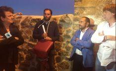 Luis Rey y Carlos Martínez, en la inauguración del parque