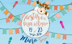Cartel de fiestas en Muro, Soria.
