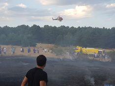 Arden tres hectáreas de pasto en el término municipal de Navaleno