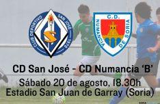 Derbi soriano: CD San José y CD Numancia 'B'.
