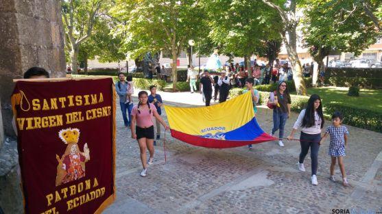 Ecuador celebra en Soria la fiesta de la Virgen del Cisne.