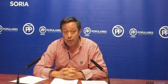Adolfo Sainz, del PP en el Ayuntamiento de Soria.