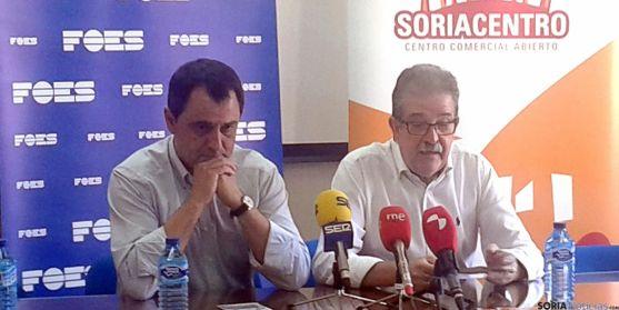 Jesús Muñoz (dcha.) y Javier Muñoz este martes. / SN