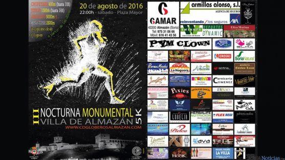 Tercera edición de la Carrera Nocturna Monumental Villa de Almazán.