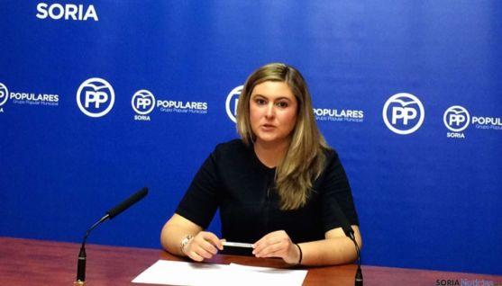 Concejala del Partido Popular en el Ayuntamiento de Soria, Eva García.