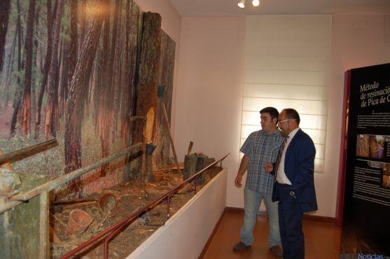Luis Rey, presidente de la Diputación de Soria, durante su visita al museo.