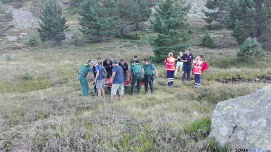 Momento del rescate. Ayto Soria